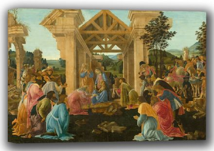Botticelli, Sandro: The Adoration of the Magi. Fine Art Canvas. Sizes: A4/A3/A2/A1 (001890)